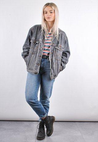 90s Dress Denim Jacket
