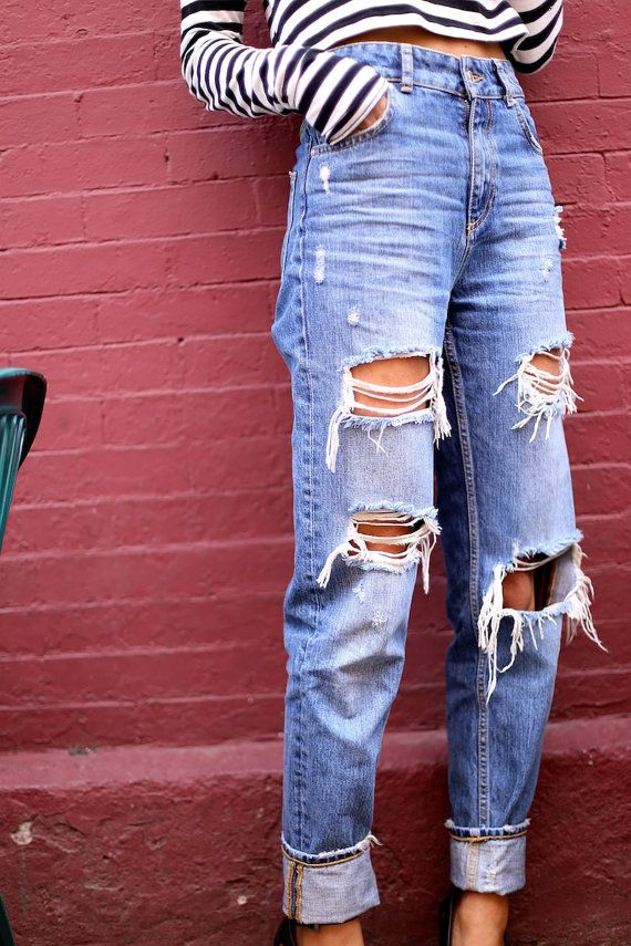 90s High Waisted Jeans Outfit