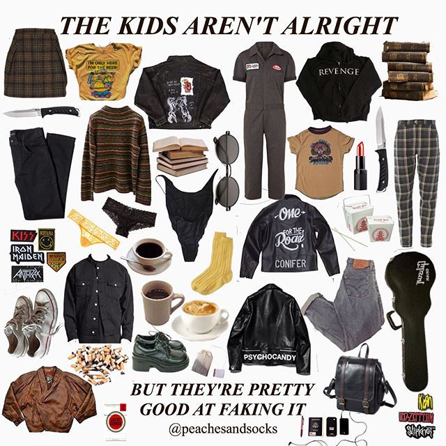 90s Grunge Aesthetic Outfits