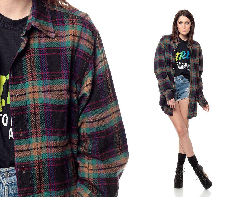 90s Grunge Fashion Flannel