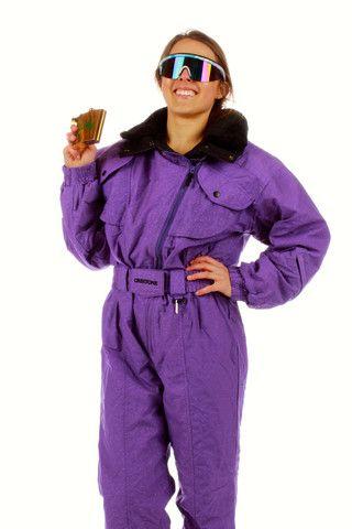 80s 90s Ski Suit