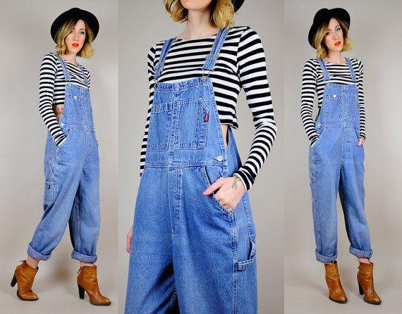 90s Clothing Denim Overalls